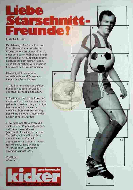 1970 er Kicker Starschnitt Beckenbauer