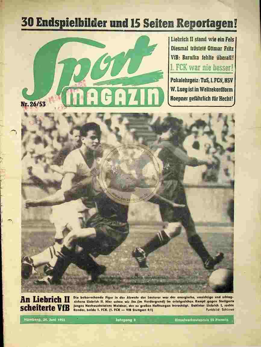 1953 Juni 24. Sport Magazin Nr. 26