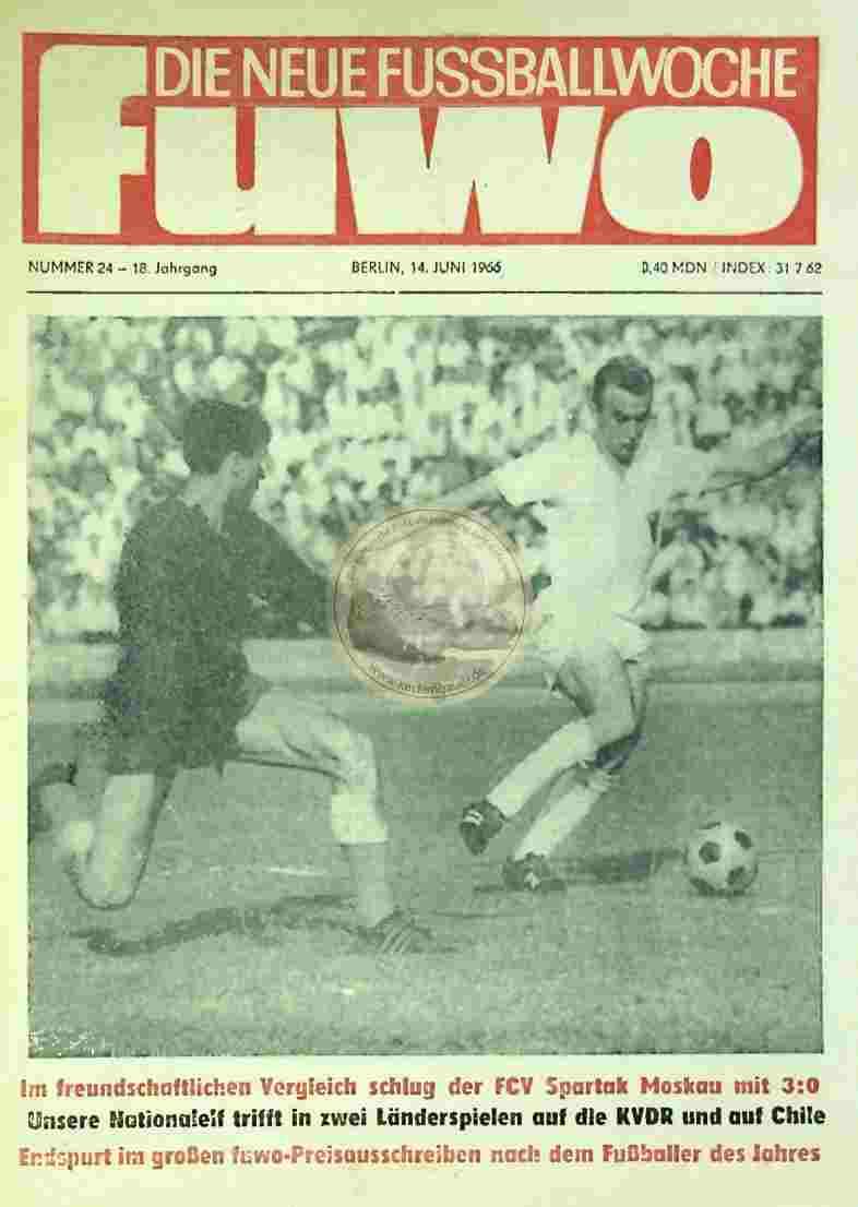 1966 Juni 14. Die neue Fussballwoche fuwo Nr. 24