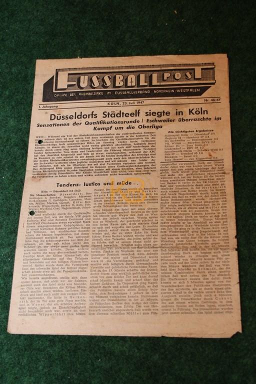 Fußballpost vom 23.07.1947.