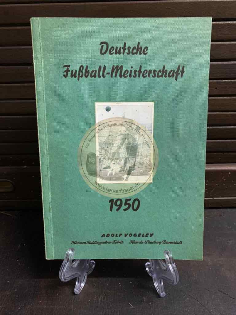 Sammelalbum Deutsche Fußball - Meisterschaft 1950 von Adolf Vogeley