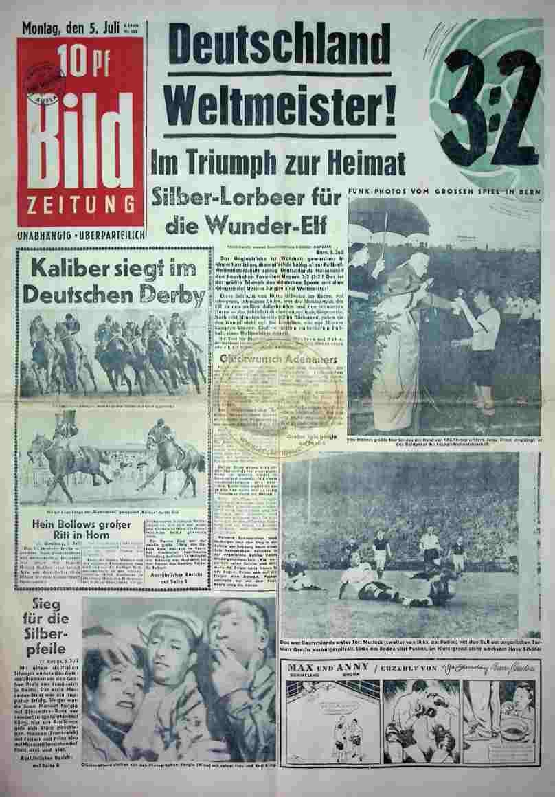 1954 Juli 5. Bildzeitung_Sport