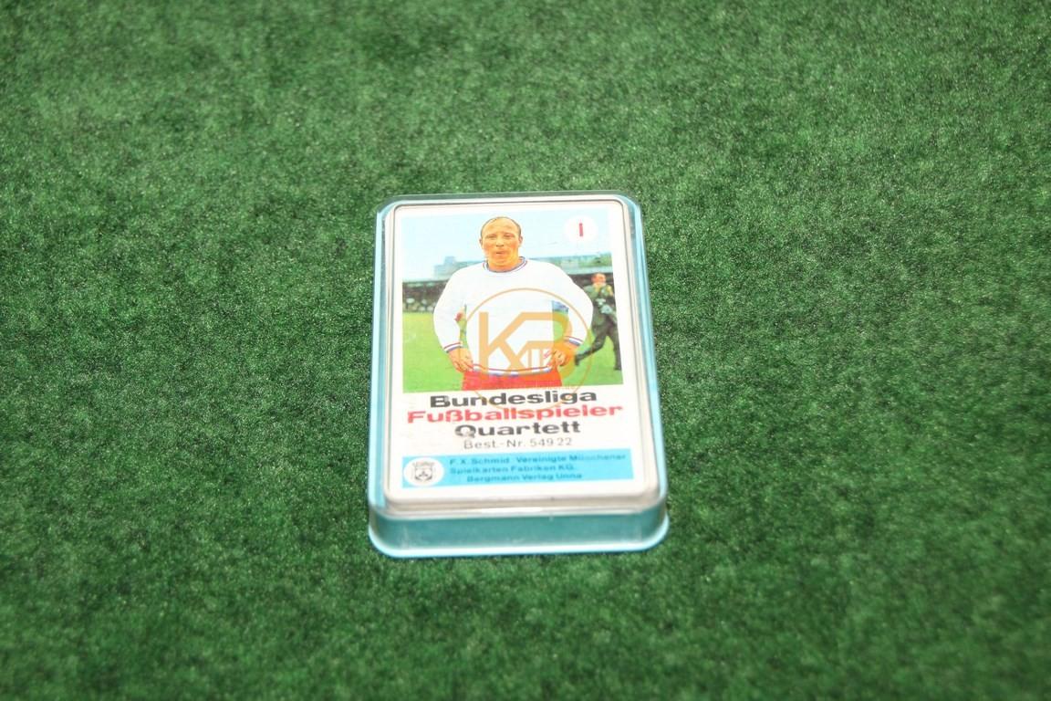 Bundesliga Fussballspieler Quartett 54922 von Schmid ca. aus den 1970ern.