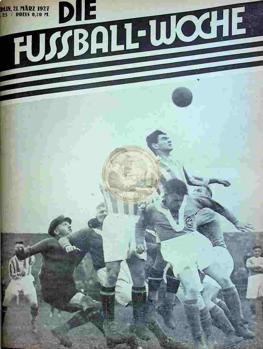 1927 März 21. Fussball-Woche Nr. 23