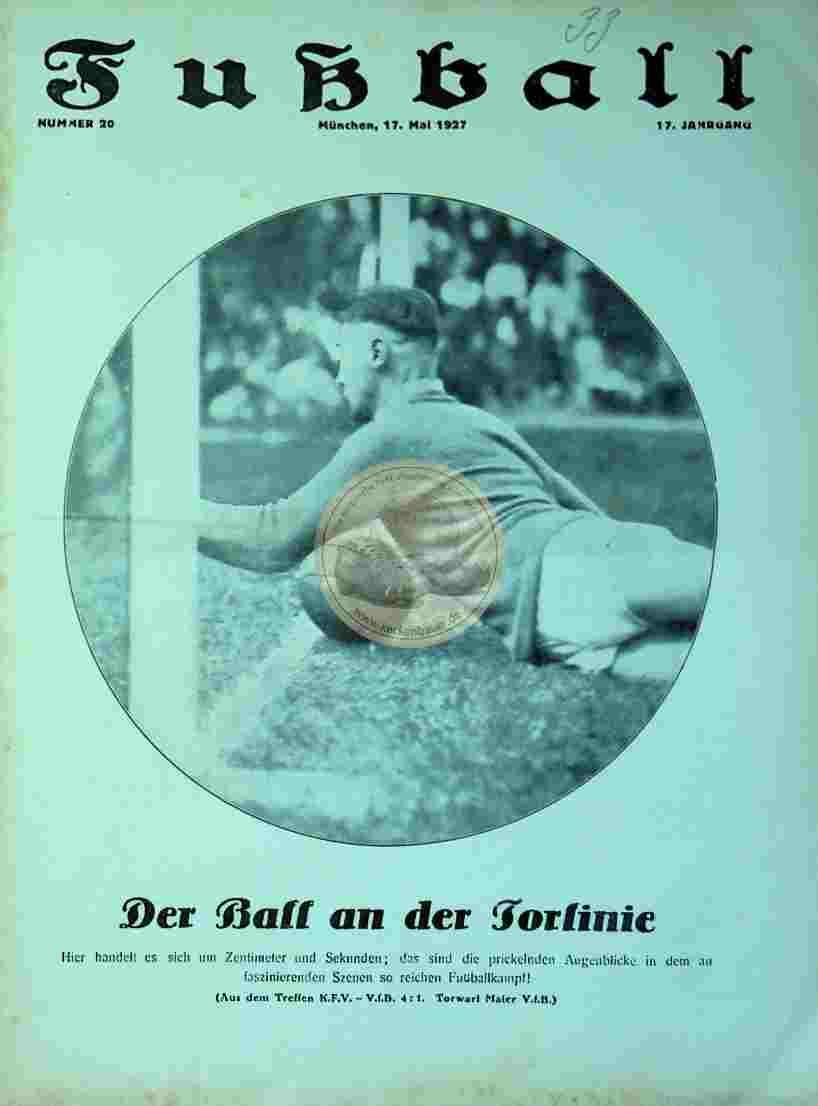 1927 Mai 17. Fußball Nr. 20