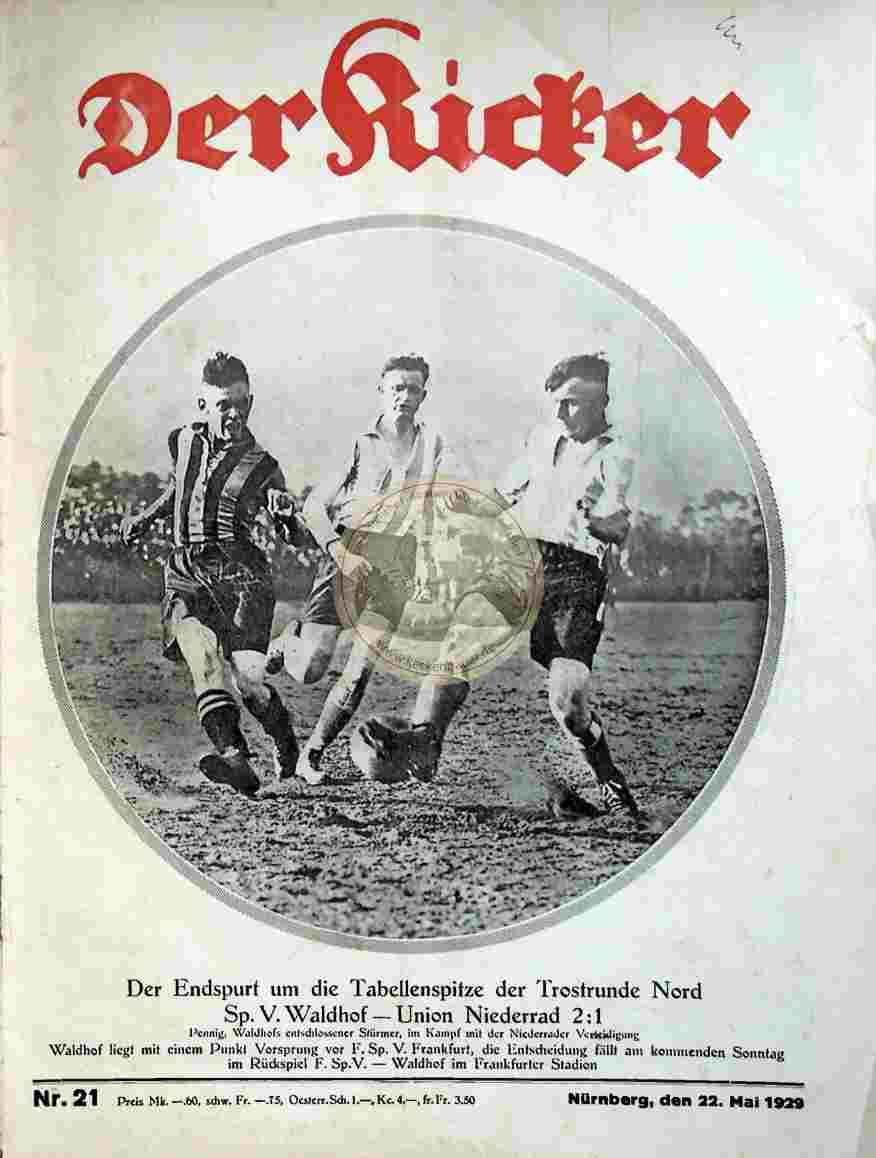 1929 Mai 22. Kicker Nr. 21