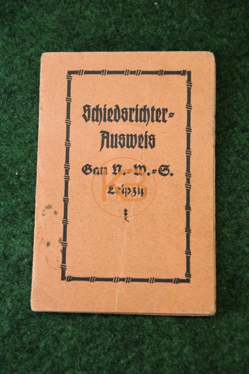 Schiedsrichter Ausweis aus dem jahr 1922 1/2