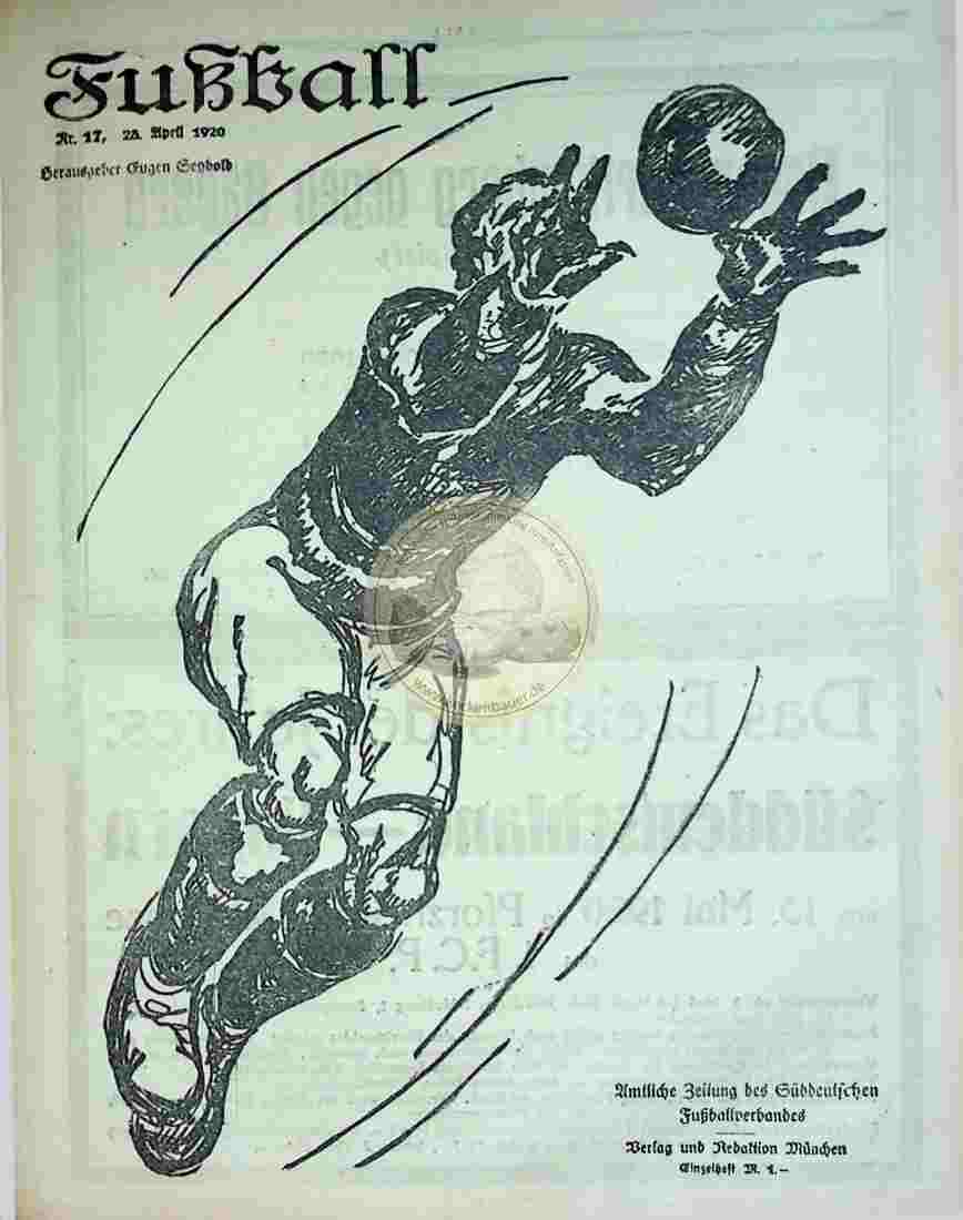 1920 April 28. Fußball Nr.17