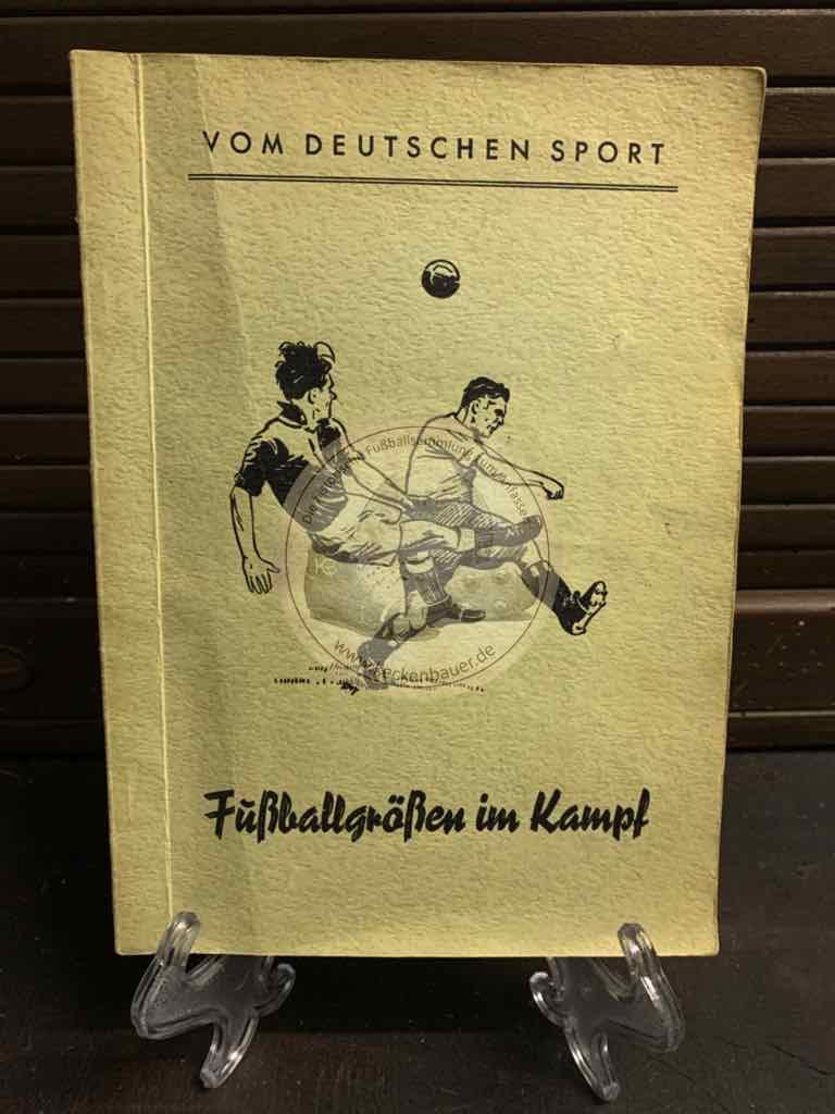 Vom Deutschen Sport Fußballgrößen im Training und Kampf aus den 1950ern