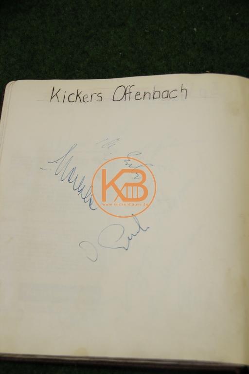Original Autogramme von Kickers Offenbach aus dem Jahr 1963