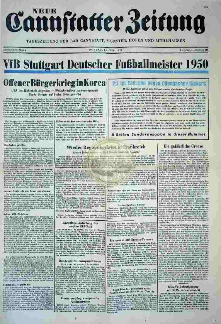 1950 Juni 26. Neue Cannstatter Zeitung