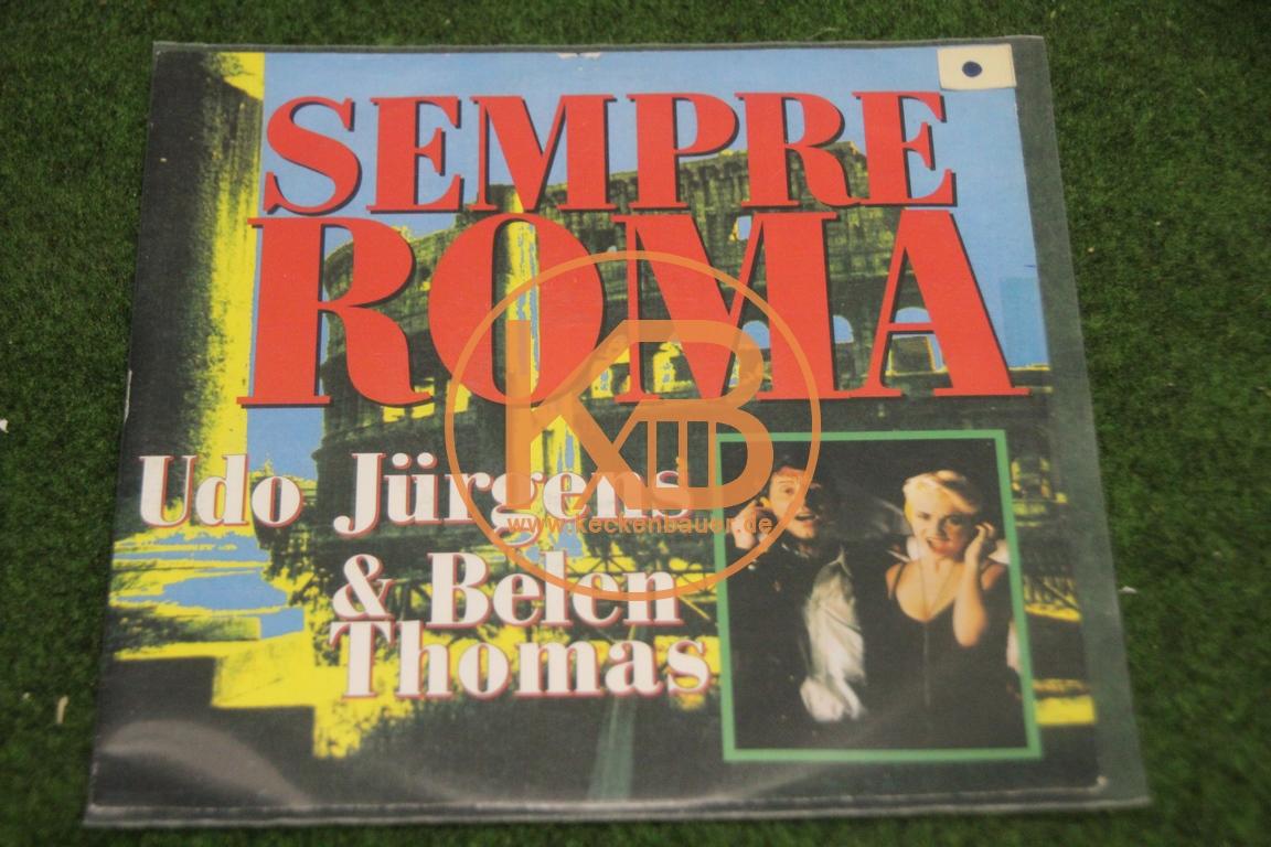 Platte von Udo Jürgens und Belen Thomas mit Sempre Roma zur WM 1990