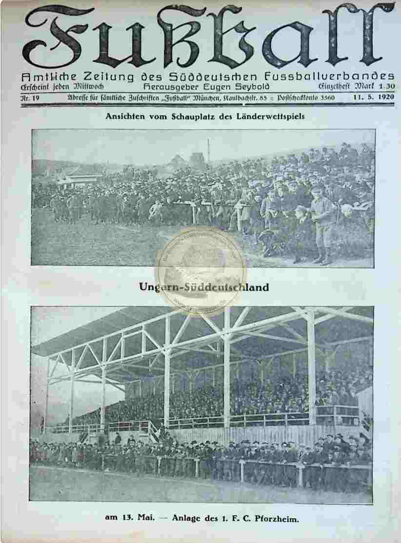 1920 Mai 11. Fußball Nr.19