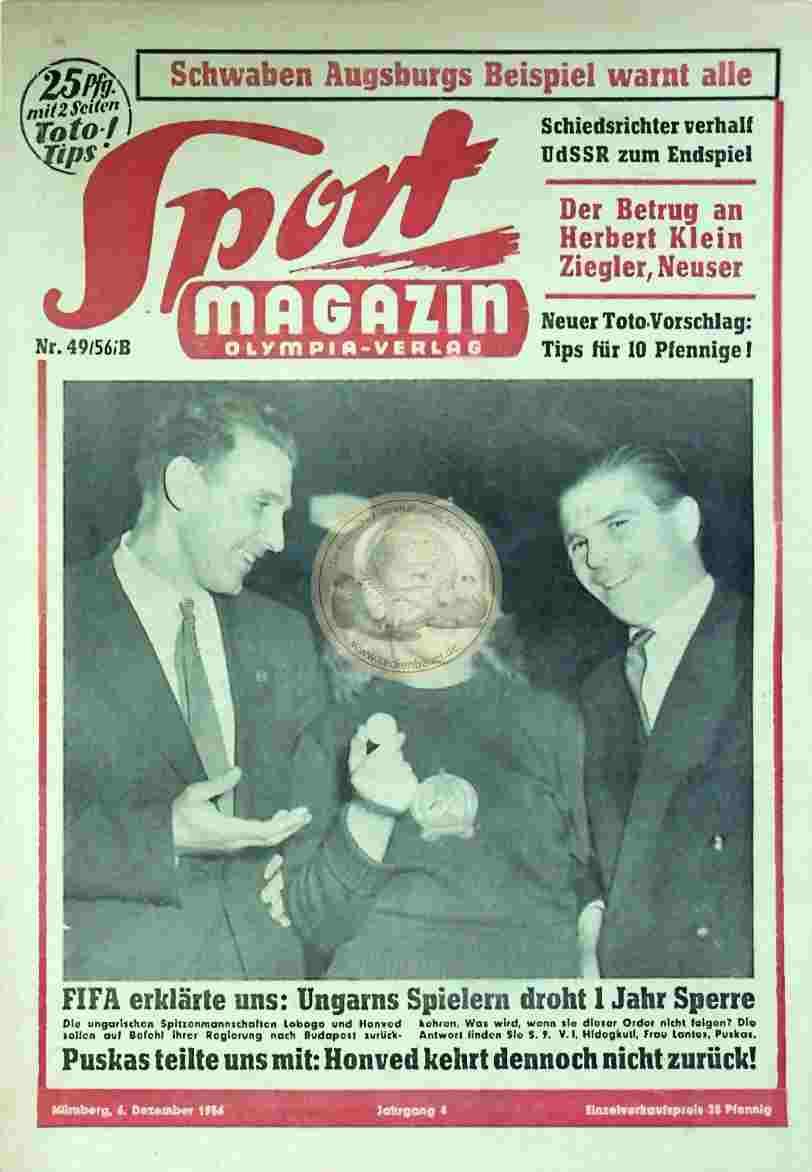 1956 Dezember 6. Sport Magazin Nr. 49