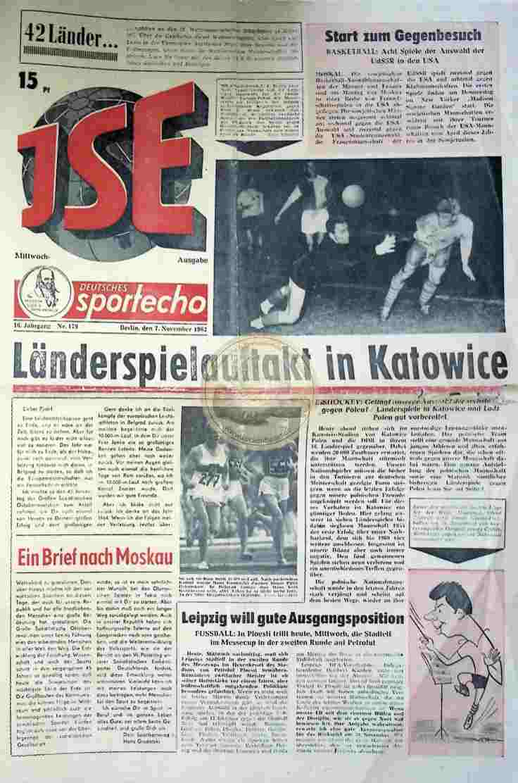 1963 November 7. Sportecho JSE Ausgabe Nr. 179