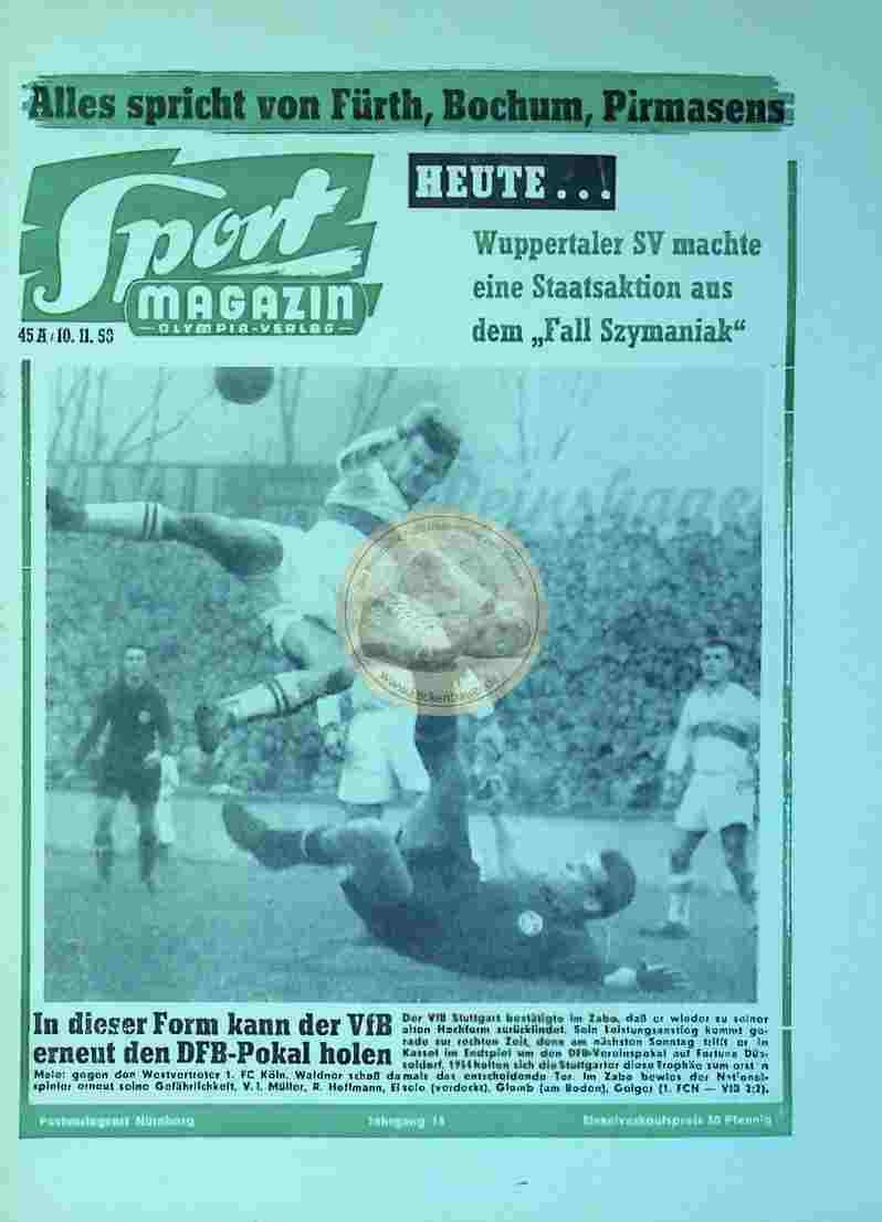 1958 November 10. Sport Magazin Nr 45a