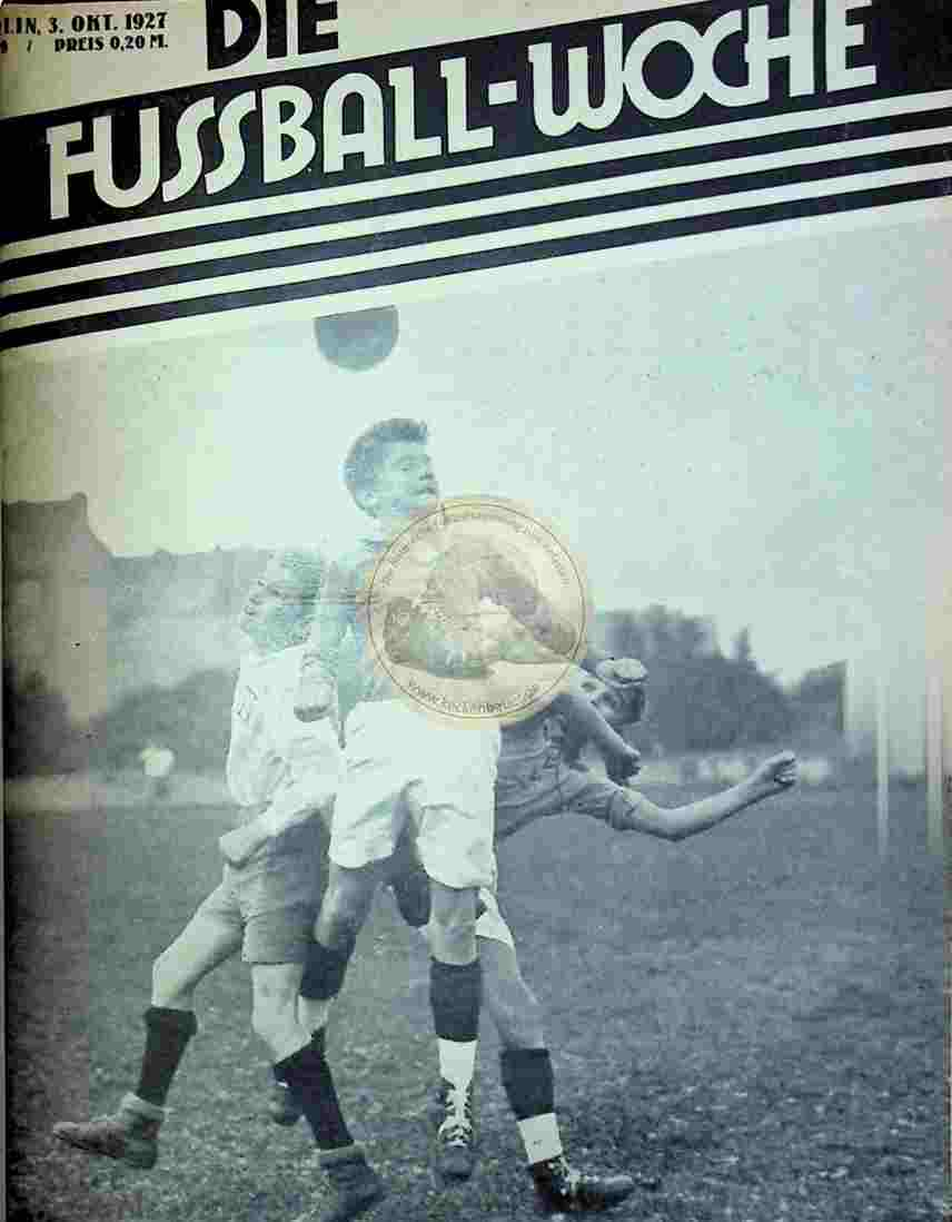 1927 Oktober 3. Fussball-Woche Nr. 79