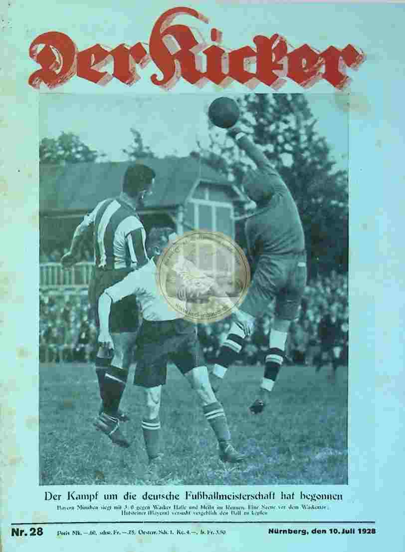 1928 Juli 10. Der Kicker Nr. 28