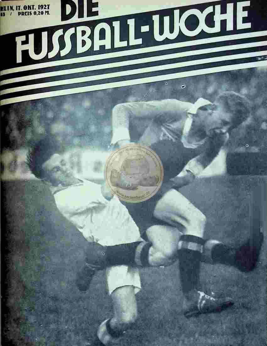 1927 Oktober 17. Fussball-Woche Nr. 83