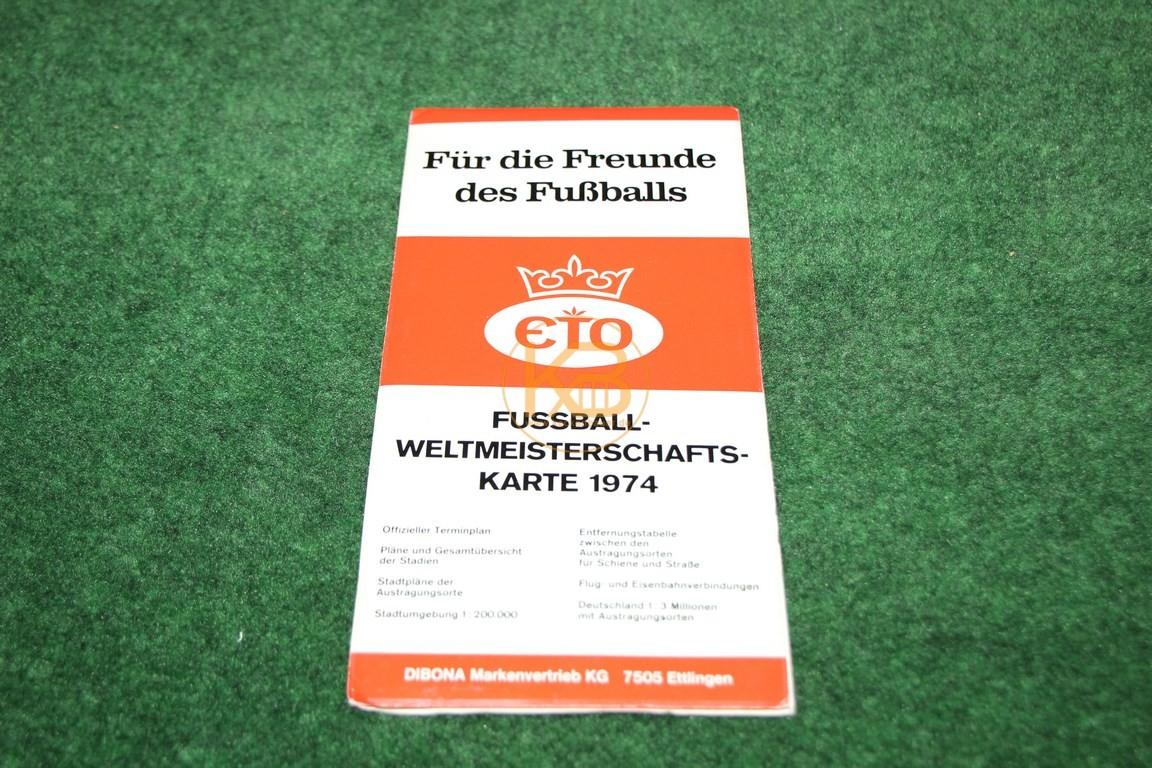 Für die Freunde des Fußballs von ETO Fussballweltmeisterschaftkarte 1974