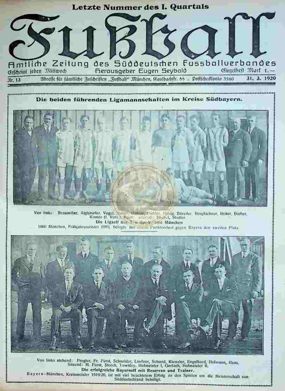 1920 März 31. Fußball Nr.13