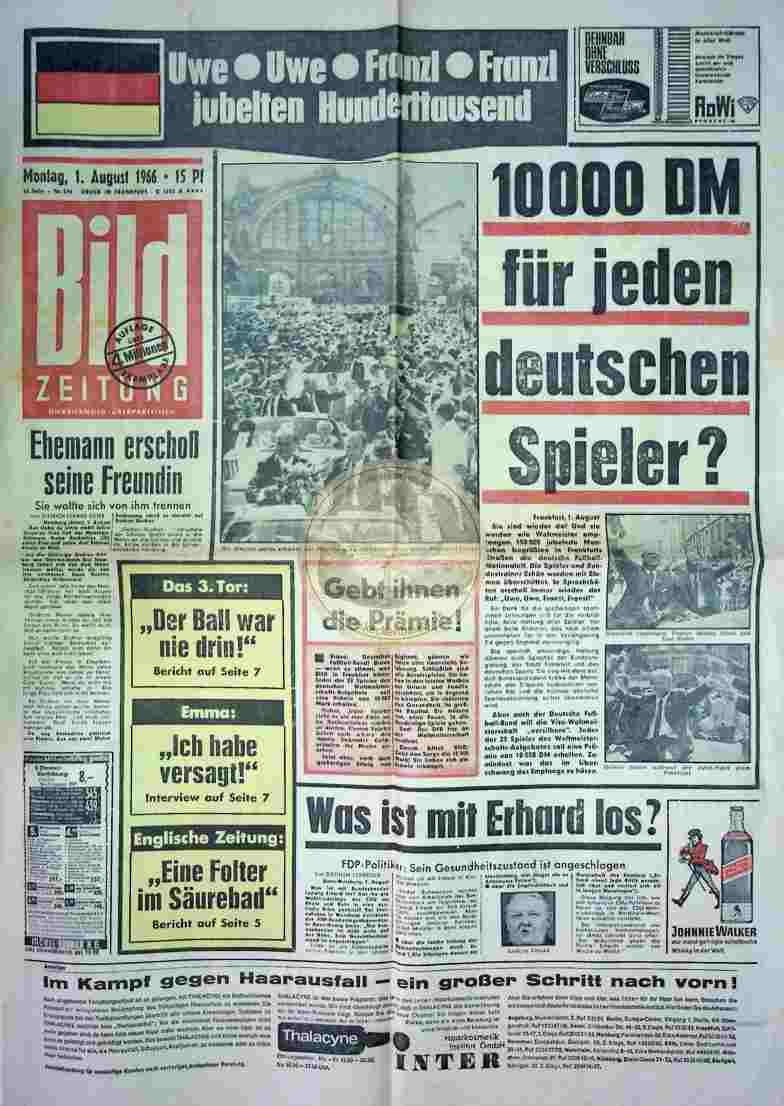 1966 August 1. Bildzeitung