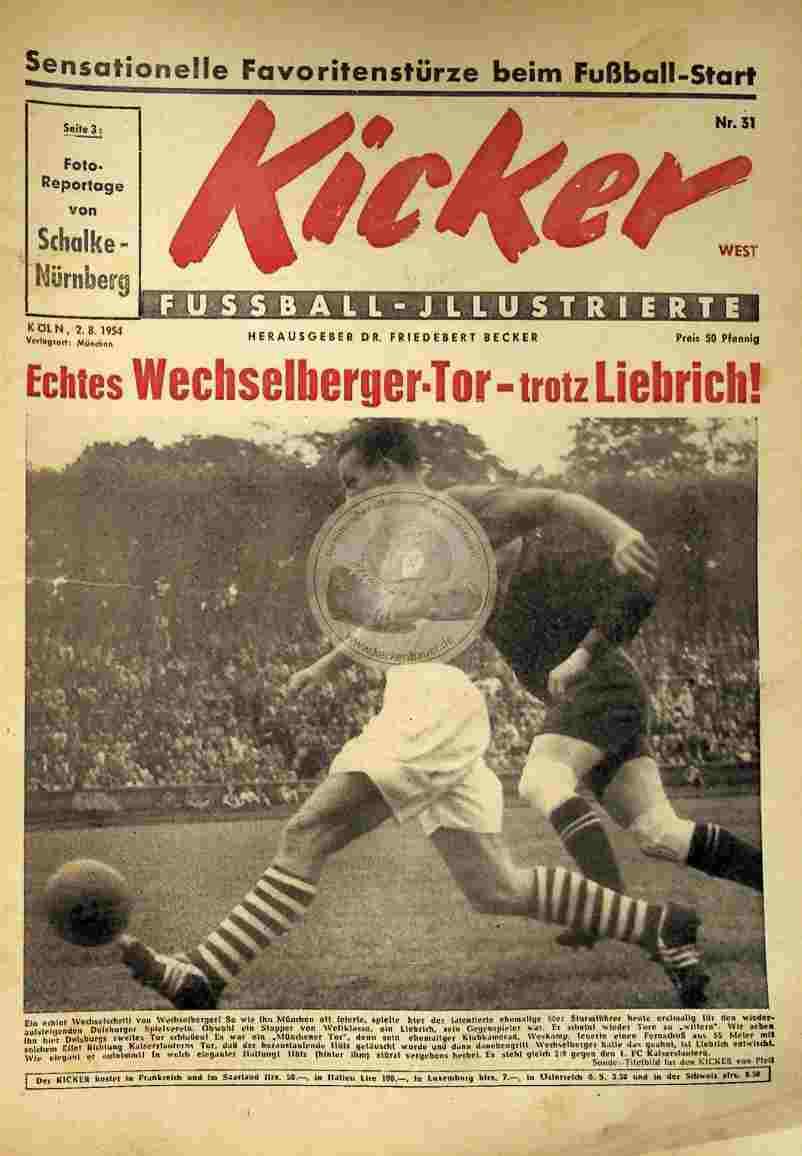 1954 August 2. Kicker Nr.31