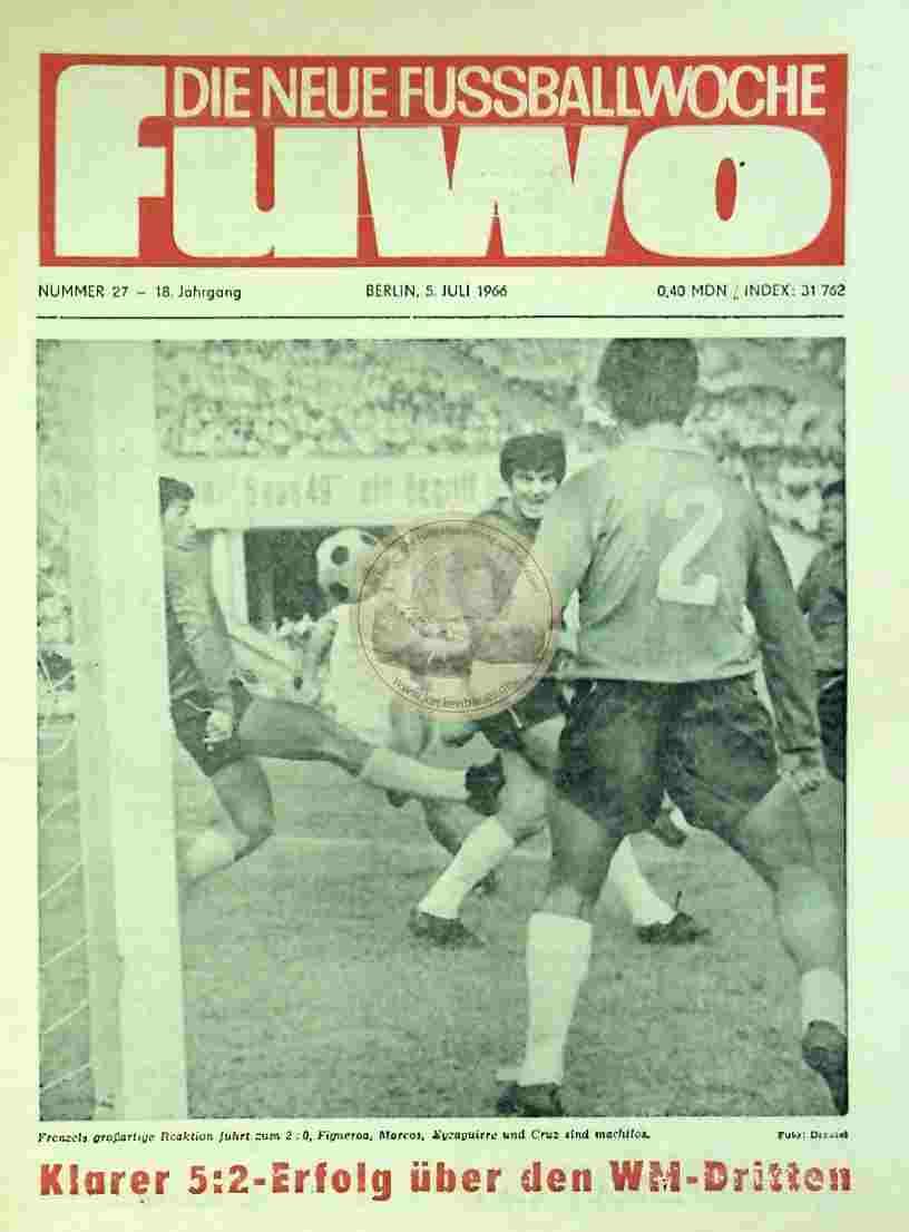 1966 Juli 5. Die neue Fussballwoche fuwo Nr. 27