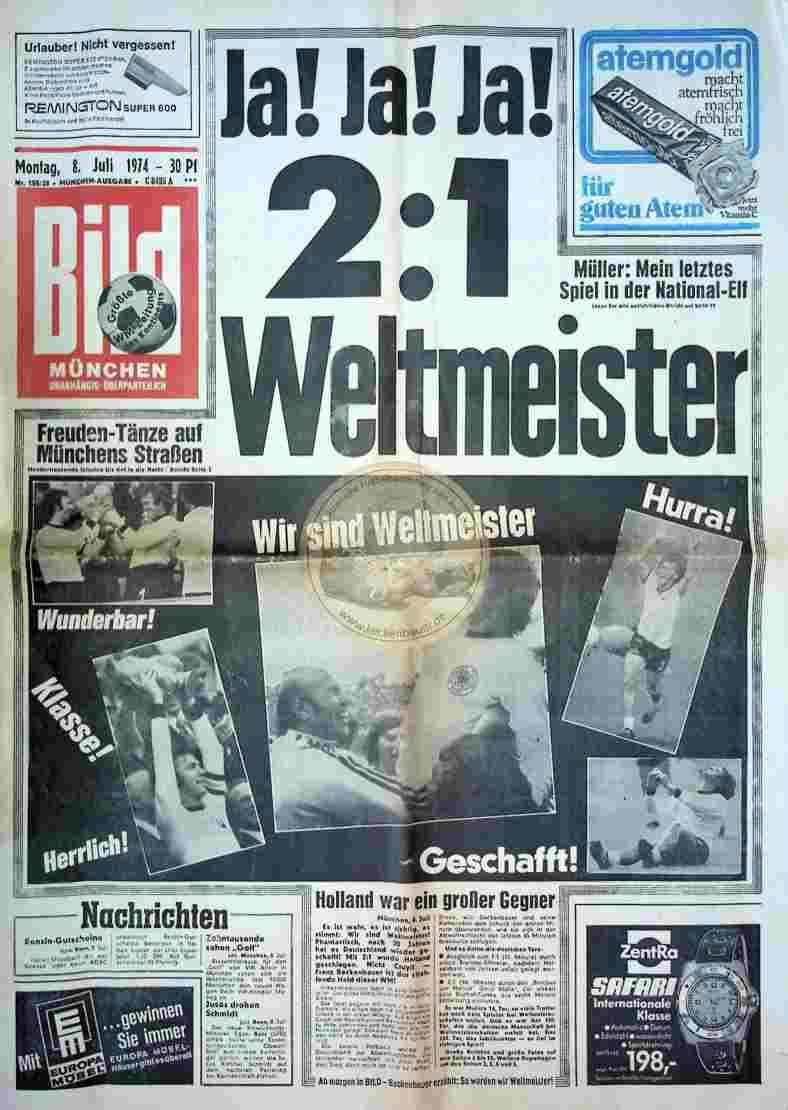 1974 Juli 8. Bildzeitung München