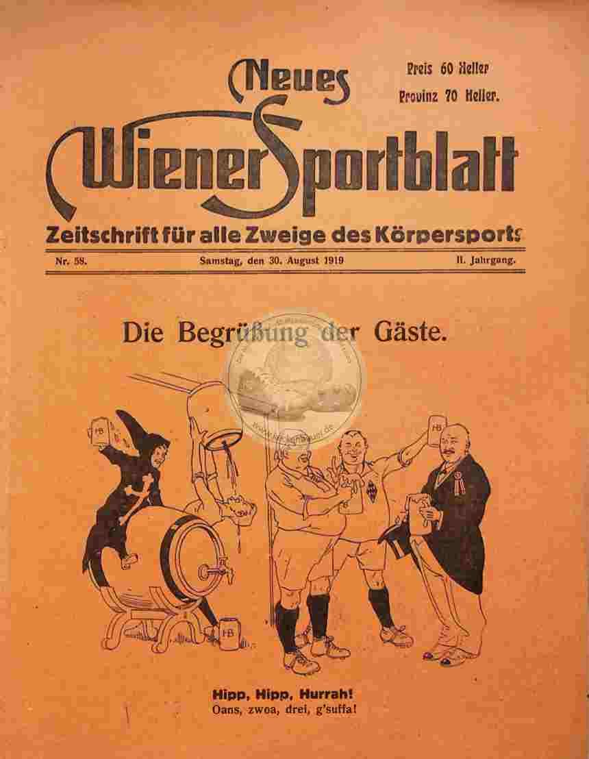 1919 August 30. Neues Wiener Sportblatt Nr.58