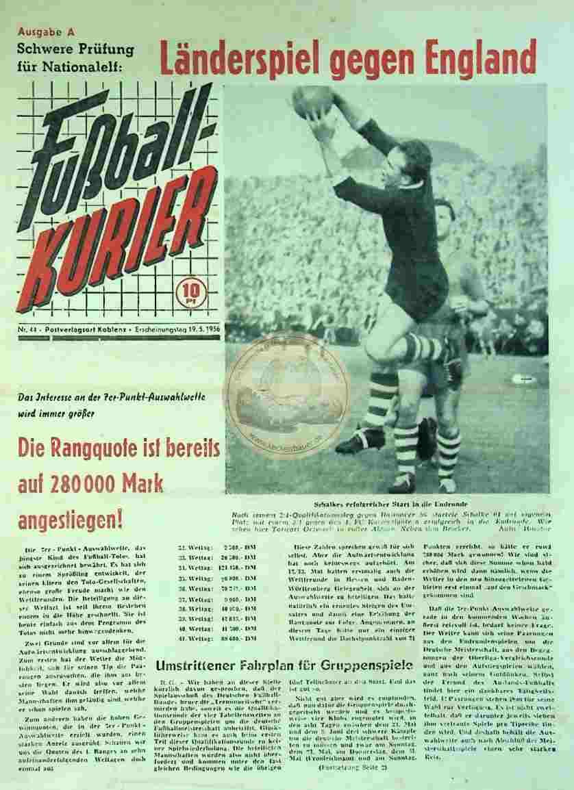 1956 Mai 19. Fußballkurier Nr. 44