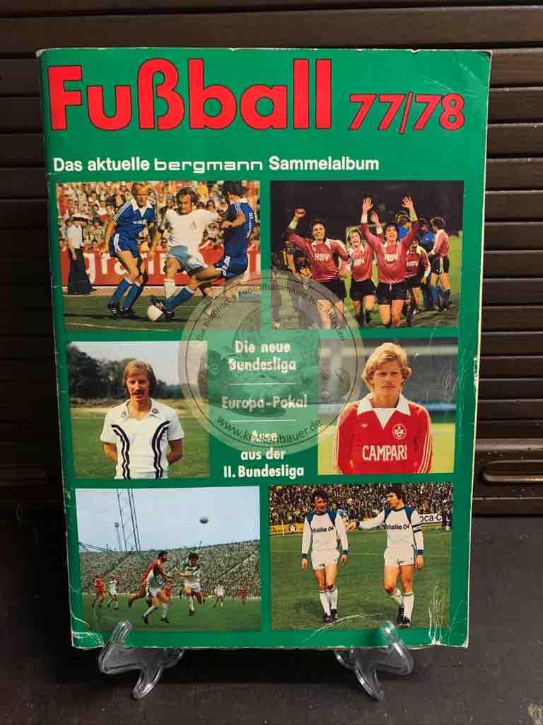 Sammelalbum Bergmann Fußball 1977/78