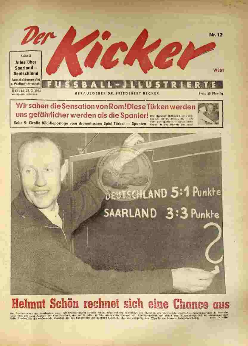 1954 März 22. Kicker Nr.12