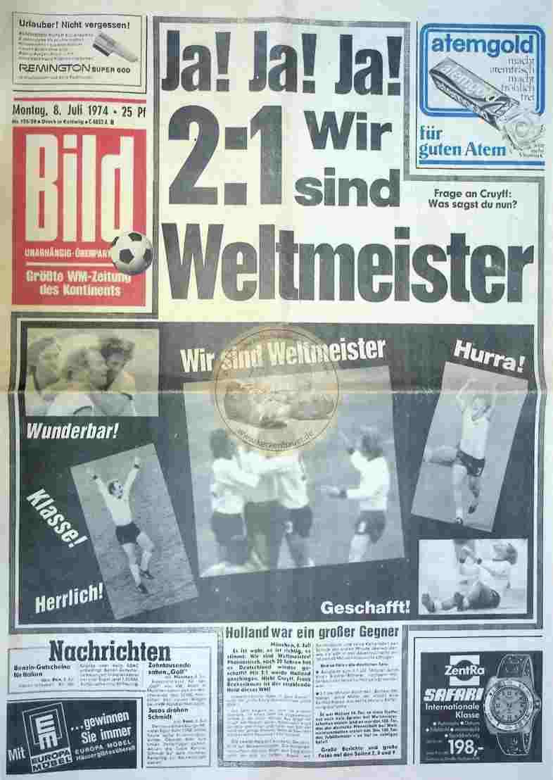 1974 Juli 8. Bildzeitung Kettwig