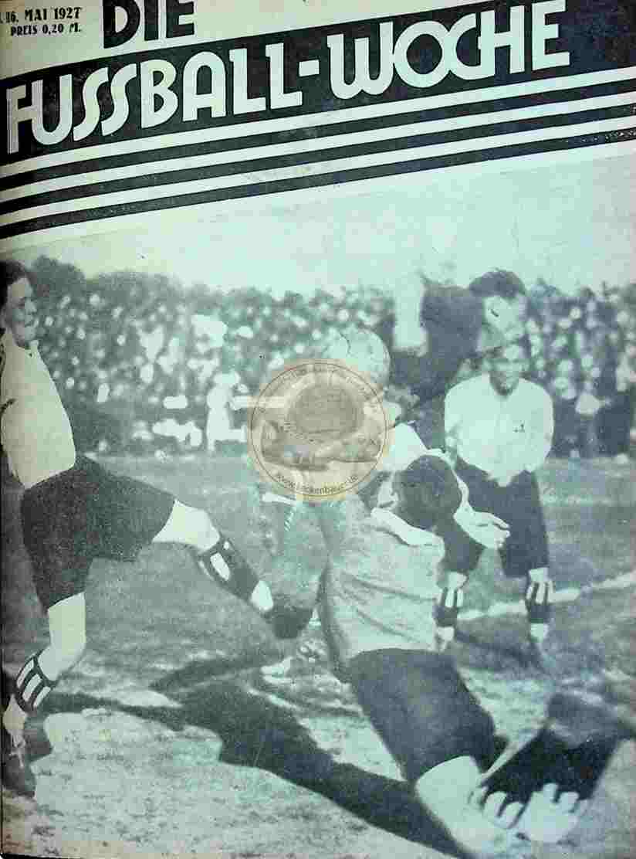 1927 Mai 16. Fussball-Woche Nr. 39