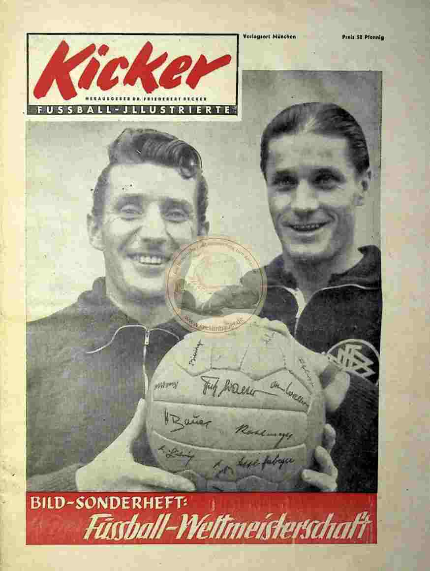 1954 Kicker Bild Sonderheft WM 1954