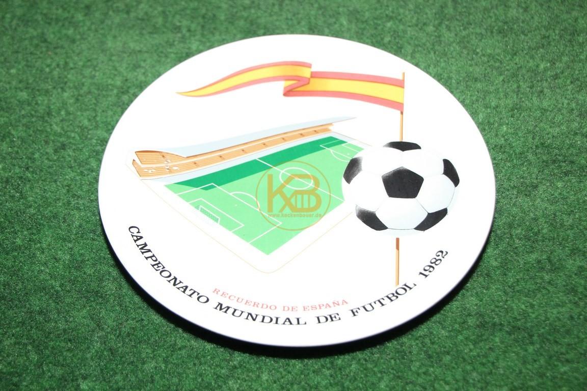 Wandteller zur Weltmeisterschaft 1982 in Spanien.