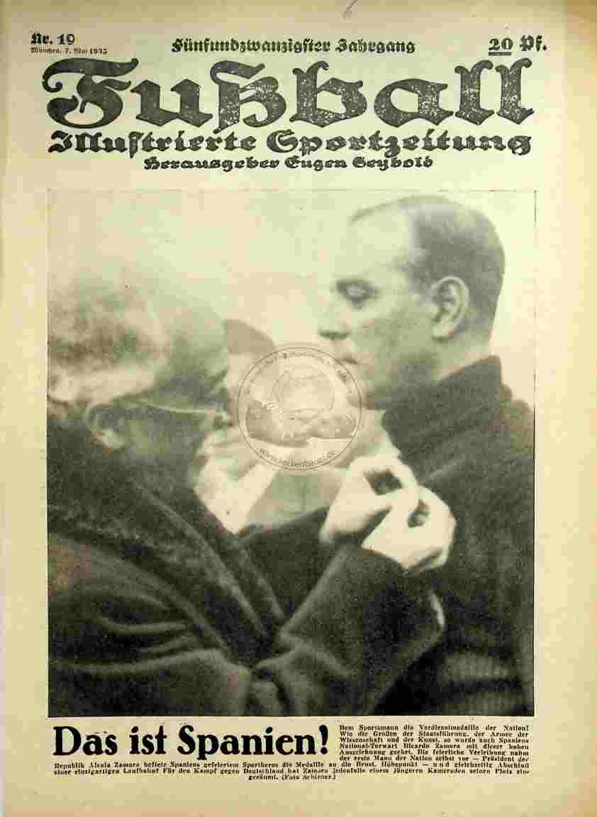 1935 Mai 7. Fußball Nr.19