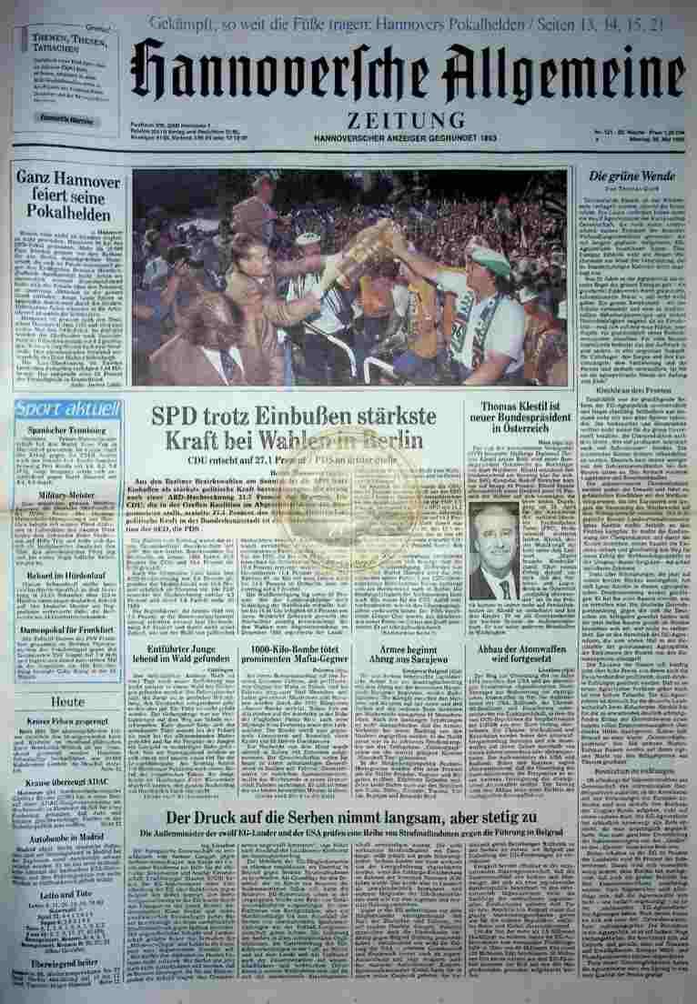 1992 Mai 25. HAZ (Auszug)