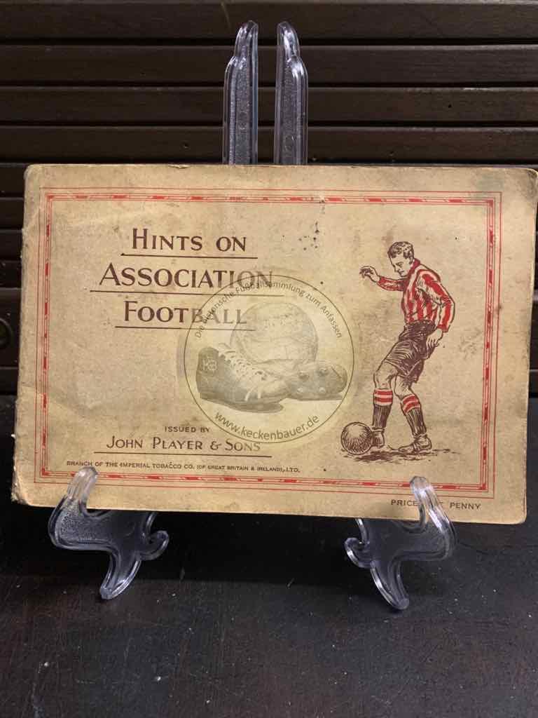 Hints Association Football von John Player & Sons komplett aus den 1930er Jahren