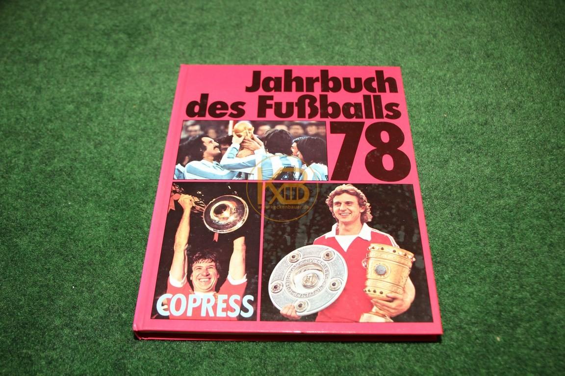 Jahrbuch des Fußballs 1978 vom Copress Verlag.