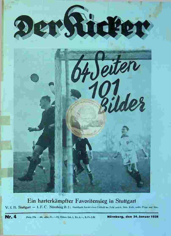 1928 Januar 24. Der Kicker Nr. 4