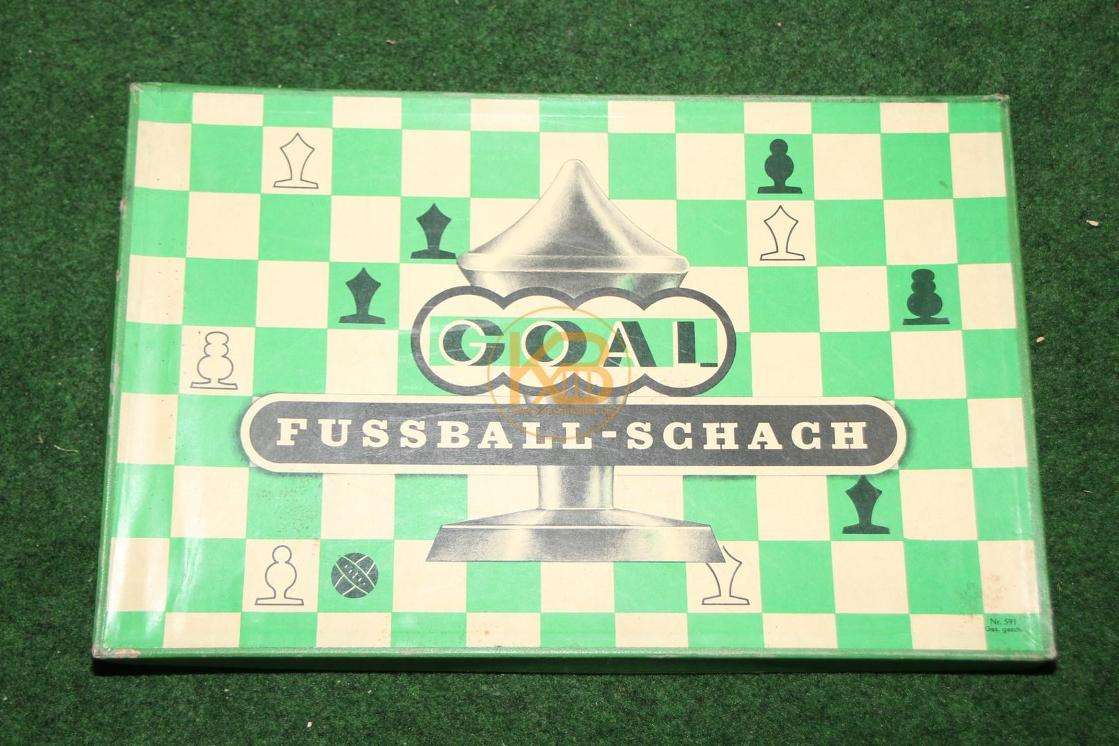 Goal Fussball Schach vom Tip Verlag Basel aus dem Jahr 1958.