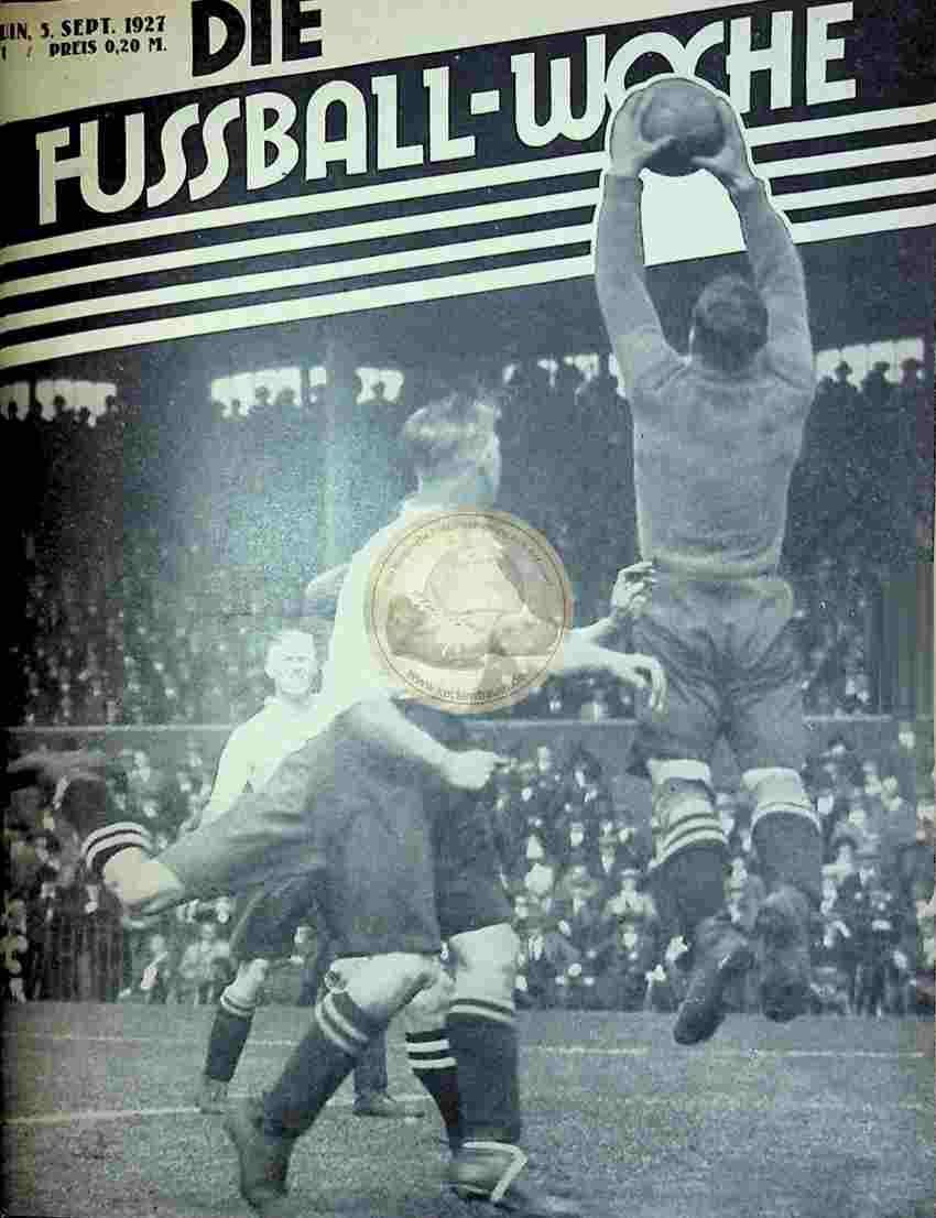 1927 September 5. Fussball-Woche Nr. 71
