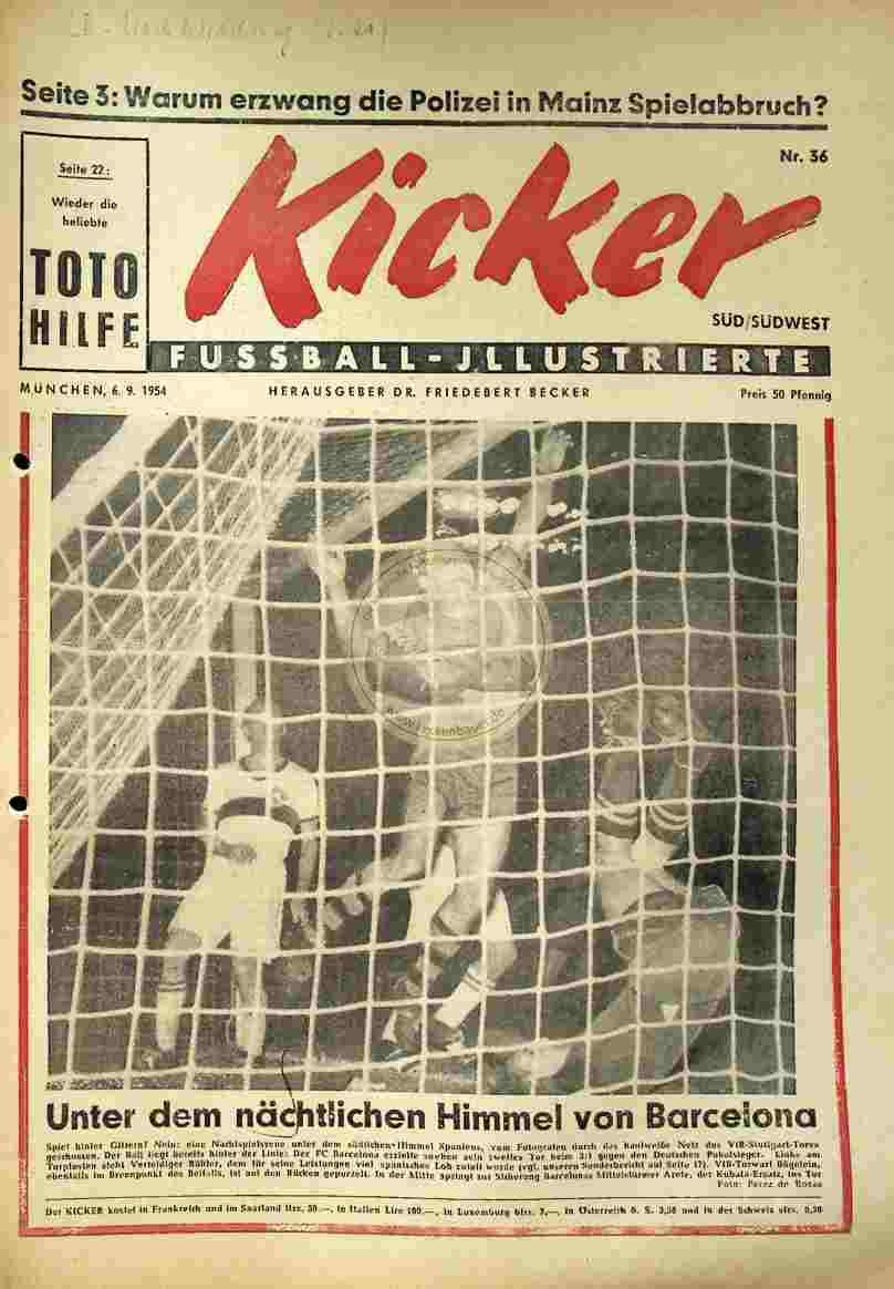 1954 September 6. Kicker Nr.36