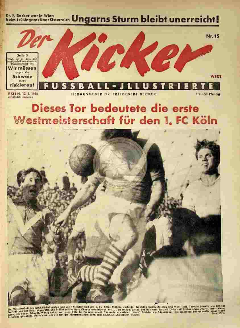1954 April 12. Kicker Nr.15