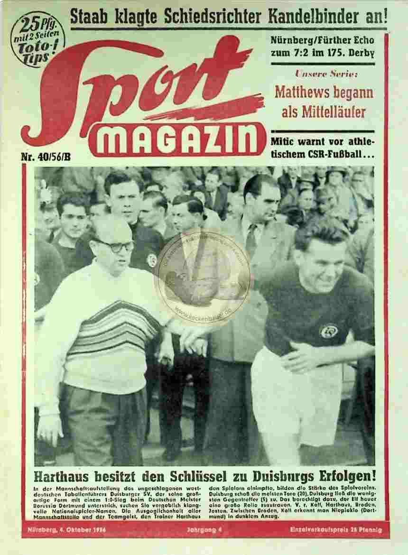 1956 Oktober 4. Sport Magazin Nr. 40