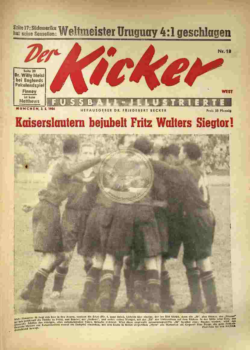 1954 Mai 3. Kicker Nr.18