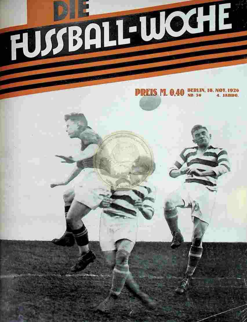 1926 November 18. Fussball-Woche Nr. 50