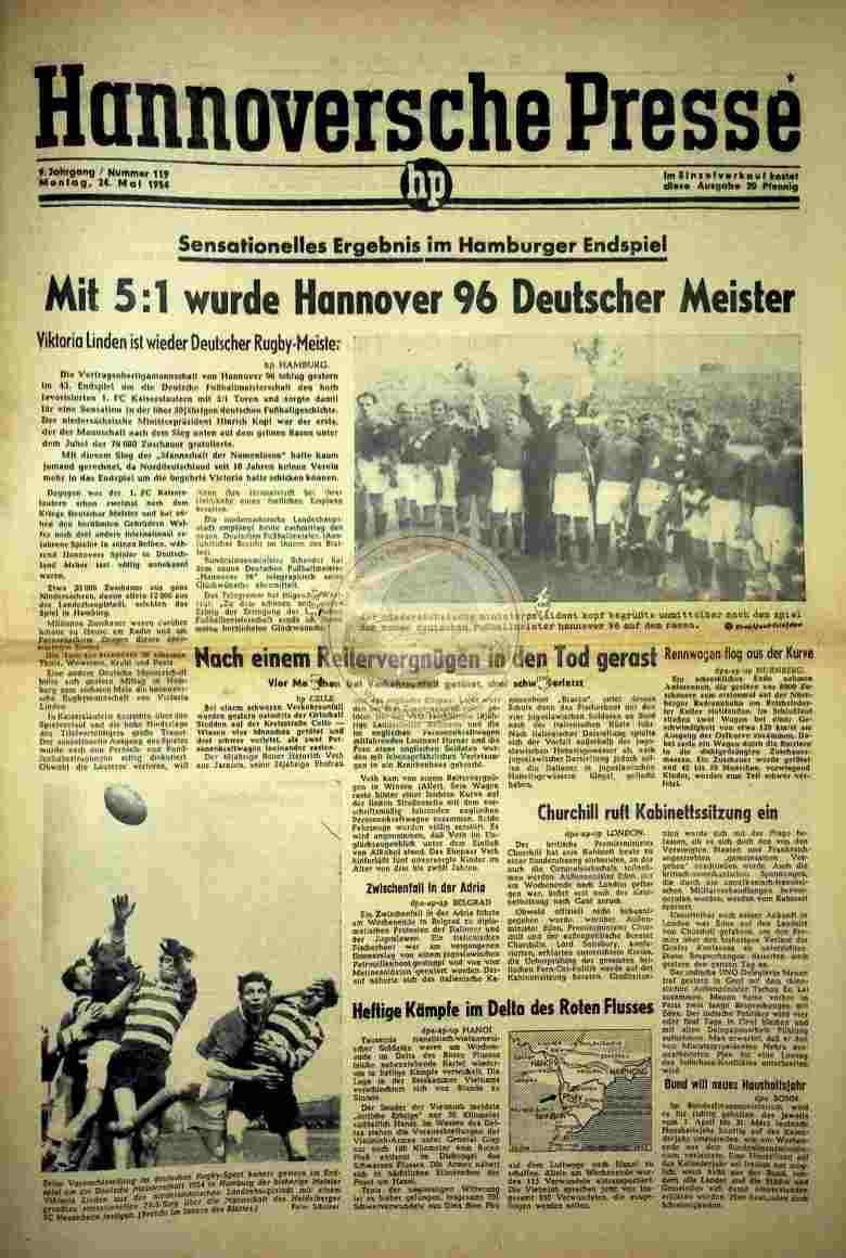 1954 Mai 24. hannoversche Presse Nr.119